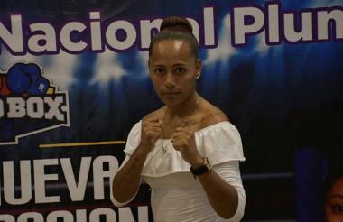 La boxeadora barranquillera Jenifer Rodríguez.