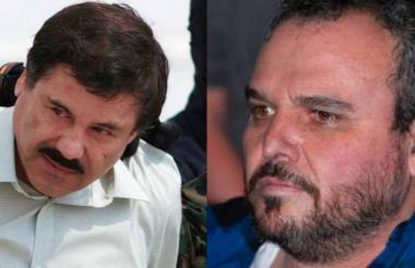 'El Chapo' Guzmán (izq), Jesús 'Rey' Zambada (der).