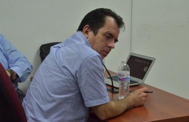 El fiscal Guillermo Segundo Díaz García durante la audiencia de imputación de cargos.