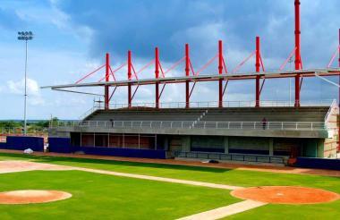 Así luce el estadio del municipio de Repelón.