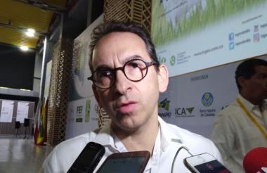 Andrés Valencia Pinzón, ministro de Agricultura