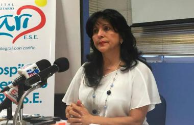 Rocío Gamarra, gerente del Hospital ESE Cari.