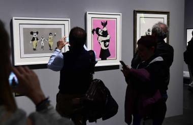 La exposición estaba dedicada al arte urbano.