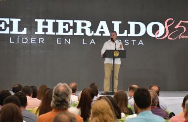 El presidente Iván Duque en su discurso.