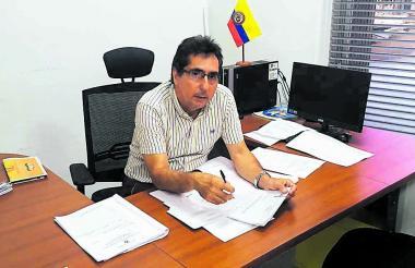Juez Delio Nieto, coordinador del Centro de Servicios Judiciales, ayer en su despacho.