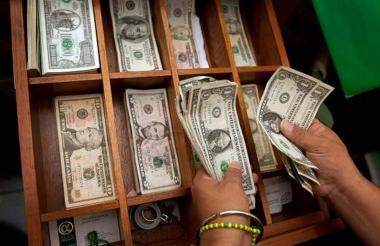 Casas de cambio del dólar en Colombia.