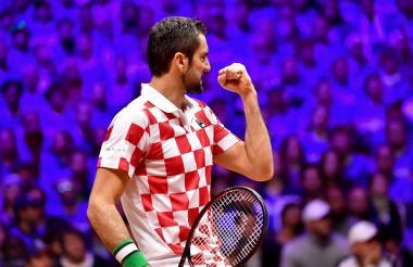 El croata Marin Cilic celebrando su triunfo ante el francés Jo Wilfried Tsonga.