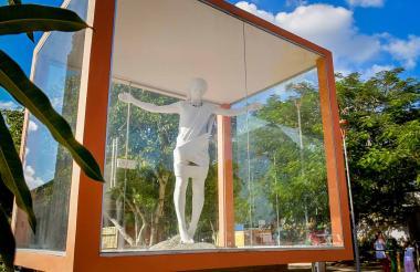 La figura del Cristo del dolor o del perdón se encuentra ubicada en la plaza-parque San Luis Beltrán, del municipio de Polonuevo.