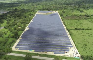Planta solar de Celsia en Santa Rosa, Bolívar.