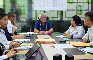 Reunión del Comité de Vigilancia de Ley 550.