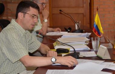 Jairo Barona, presidente de la comisión de presupuesto de la Asamblea de Sucre.