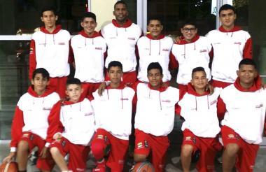 Selección Atlántico sub-13 que competirá en Cúcuta.