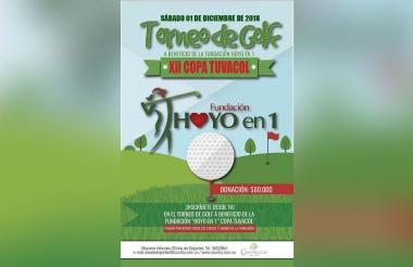 Este es el afiche oficial del certamen de golf.