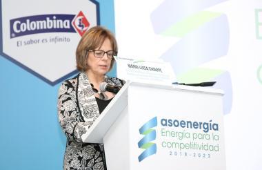 La presidente de la Asoenergía, María Luis Chiape.