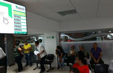 Oficina de la Dirección Seccional de Impuestos Dian en Barranquilla.