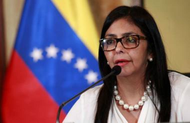 Delcy Rodríguez, vicepresidenta del país.