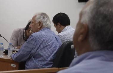 El exgerente de Triple A Ramón Navarro Pereira en diligencias judiciales.