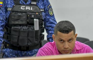 Lebith Aldemar Rúa Rodríguez, alias la Bestia del matadero en audiencias.