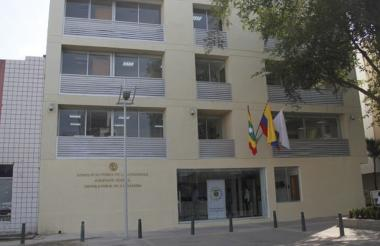 Fachada del complejo judicial ubicado en el centro de la ciudad de Cartagena.