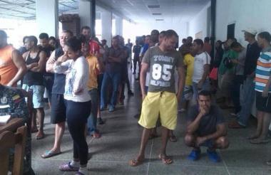 Parte del grupo de los 59 colombianos detenidos en Caracas desde septiembre de 2016.