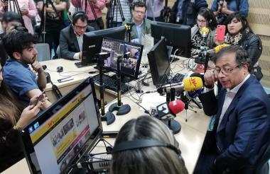 Petro durante una entrevista.
