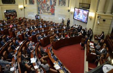 Durante el debate de las comisiones económicas de Senado y Cámara.