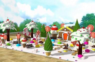 Así quedará la 'Casa de dulces' en la Plaza de la Paz.