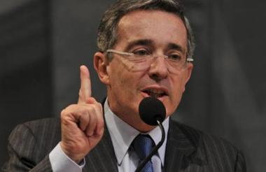 Álvaro Uribe Vélez, senador del Centro Democrático.