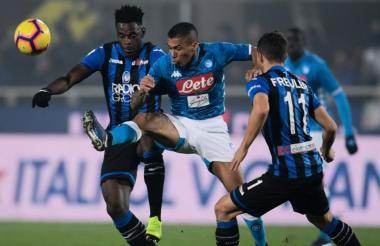 Los goles de Zapata permitieron a los de Bérgamo adelantar a la AS Roma.