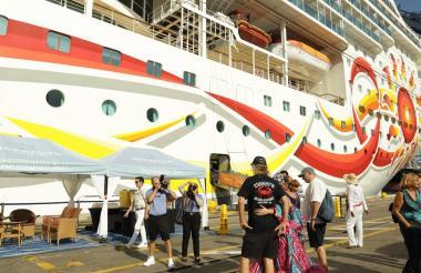La  recalada del crucero Norweigan Sun.