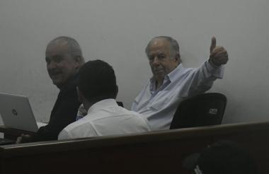Julio Gerlein durante la audiencia.