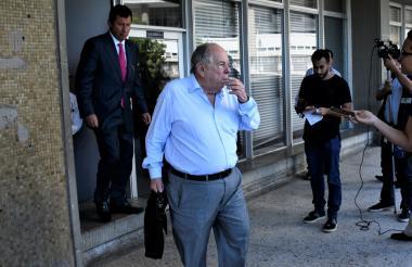 El empresario Julio Gerlein a la salida de la sala de audiencias.