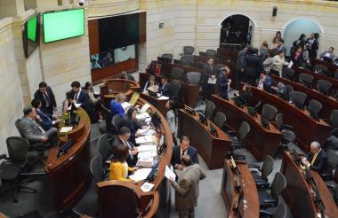 Panorama de la plenaria del Senado.