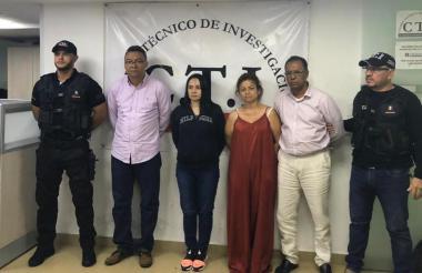 Exjuez Juan Correa Olaya, Maryori Sofía de la Hoz, Zirina Galezzo B. y José Ulises Torres Narváez.