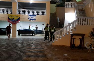 Instalaciones del hotel en Taganga, Santa Marta.
