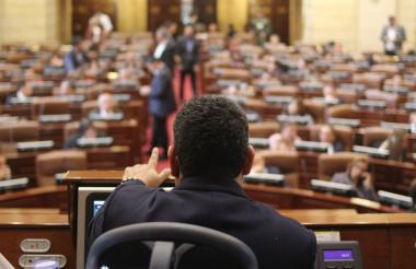 La plenaria de la cámara durante el trámite de la reforma política este jueves.