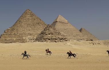El hecho ocurrió en la Gran Pirámide de Guiza.