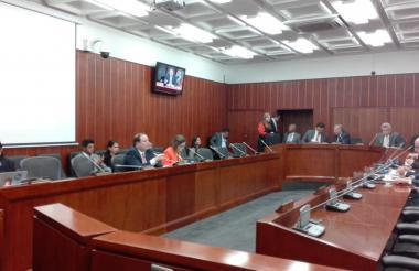 La Comisión Tercera del Senado.