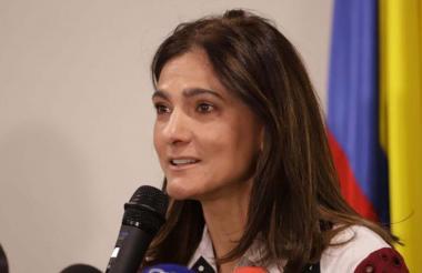 Ángela María Orozco, ministra de transporte.