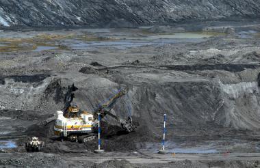 Aspecto de una mina de carbón en la Jagua de Ibirico, departamento de Cesar.