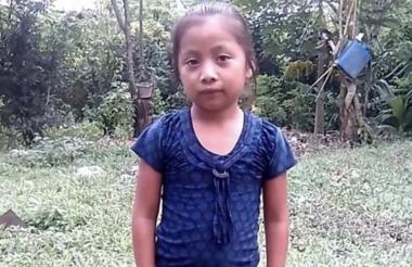 Jakelin Caal, la menor guatemalteca fallecida.