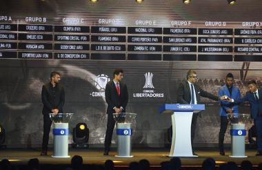 Sorteo de la Libertadores realizado en Asunción.