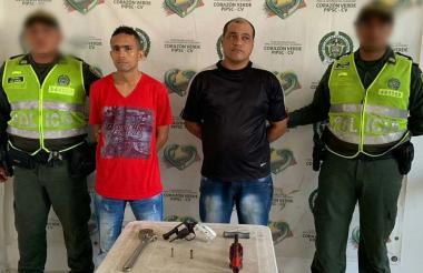 Javier Cardona y Elkin Mercado, capturados.