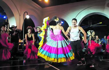 Karoll Márquez en plena escena de la obra.