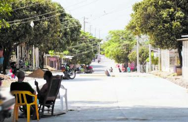 Sitio del ataque en el barrio El Bosque.