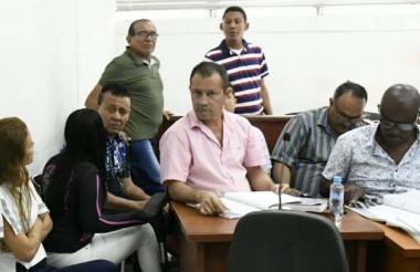 Aspecto de las audiencias concentradas contra Herrera y el resto de procesados.