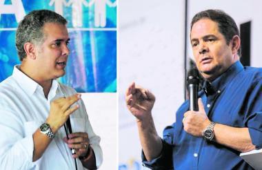 El presidente Iván Duque y el líder de Cambio Radical, Germán Vargas Lleras.