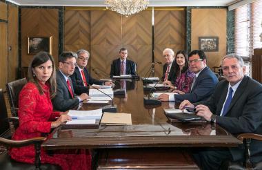 Miembros de la junta directiva del Banrepública.
