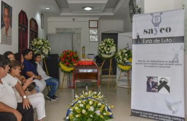 En la sede de Sayco se realizó la velación del maestro Adolfo Echeverría Comas.