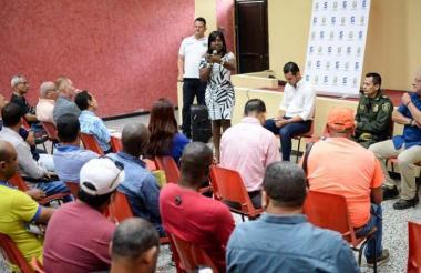 La secretaria de Gobierno de Soledad, Josefa Cassiani, explica cómo funcionan los frentes.